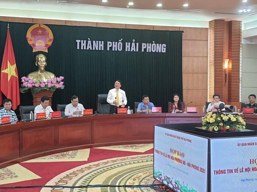 Ông Lê Khắc Nam, Phó Chủ tịch UBND TP Hải Phòng thông tin về Lễ hội Hoa Phượng Đỏ năm 2021