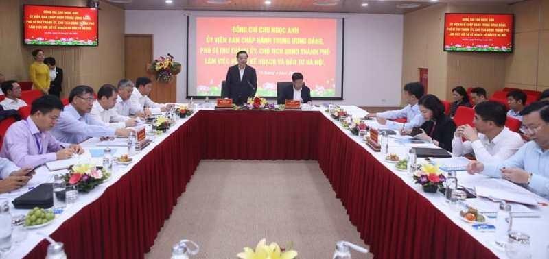 Chủ tịch Chu Ngọc Anh yêu cầu Sở KH&ĐT Hà Nội cần làm việc căn cơ, khoa học hơn nữa, đổi mới sáng tạo hơn nữa.