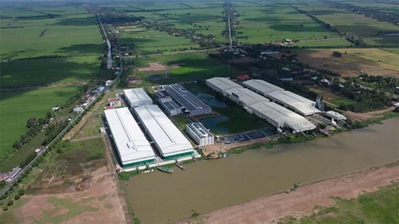 Cụm công nghiệp Trường Xuân, huyện Tháp Mười, tỉnh Đồng Tháp. Ảnh: thapmuoi.dongthap.gov.vn
