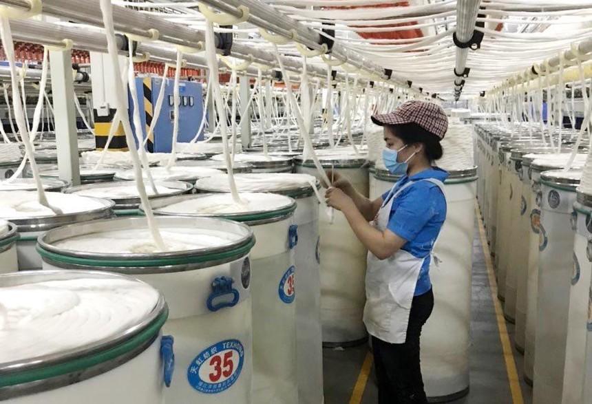 Doanh nghiệp FDI nắm phần lớn ngành sản xuất xơ sợi, khi đóng góp tới 2,7 tỷ/3,7 tỷ USD giá trị xuất khẩu trong năm 2020.