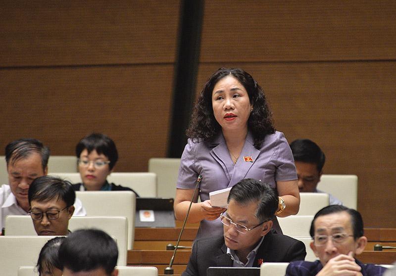 Quốc hội cần thêm nhiều đại biểu là doanh nhân. Trong ảnh: Đại biểu Trần Thị Hiền (Hà Nam), một trong số ít đại biểu Quốc hội là doanh nhân.