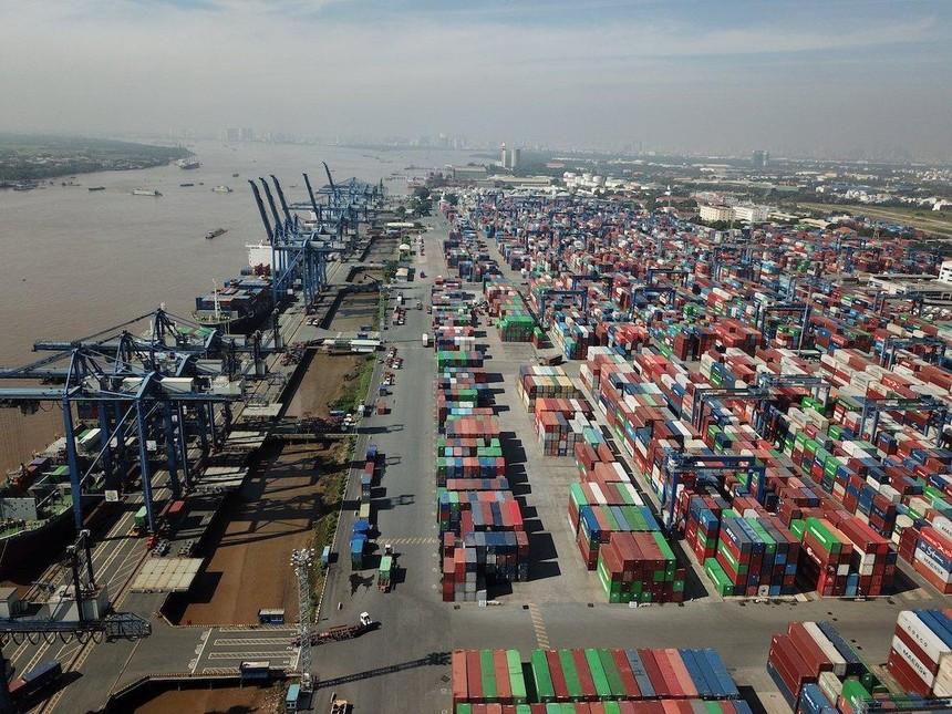 Hàng hoá tại Tân Cảng Cát Lái TP.HCM (Ảnh: Lê Toàn).