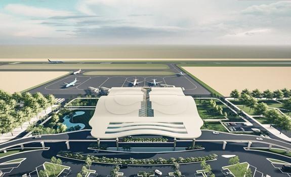 Một phương án thiết kế Sân bay Quảng Trị được đơn vị tư vấn báo cáo đề xuất