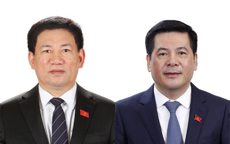 Bộ trưởng Hồ Đức Phớc và Bộ trưởng Nguyễn Hồng Diên