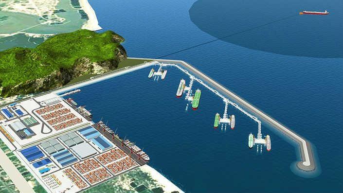 Mô hình cảng Bãi Gốc gắn với Nhà máy lọc hóa dầu Vũng Rô