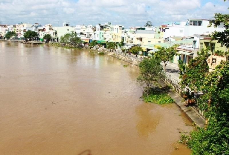 Một góc thị xã Bình Minh, tỉnh Vĩnh Long. Ảnh: Sông Hậu (Nguồn: Báo Vĩnh Long)