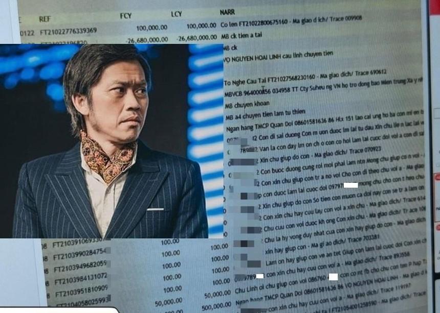 MB phản hồi về việc lộ lịch sử giao dịch của Hoài Linh