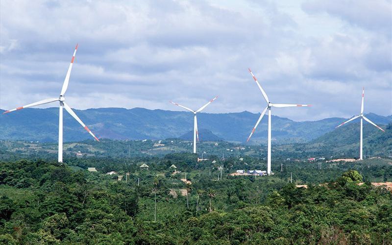 Một trong dự án điện gió đã vận hành tại huyện miền núi Hướng Hóa, tỉnh Quảng Trị