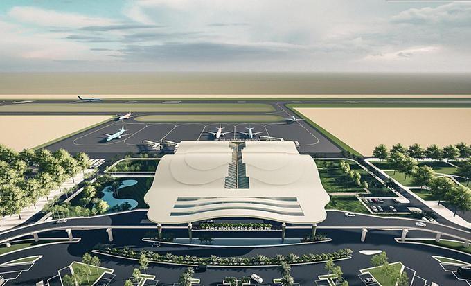 Một phương án thiết kế sân bay Quảng Trị. (Ảnh: Tâm Anh).