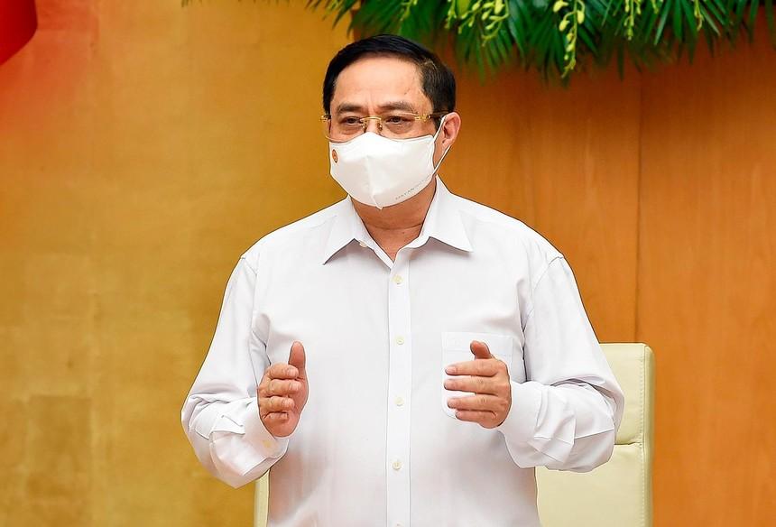 Thủ tướng Phạm Minh Chính chủ trì phiên họp Chính phủ thường kỳ tháng 5/2021 (Ảnh: Nhật Bắc)