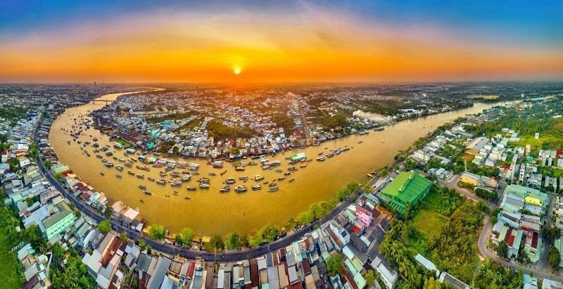 Chợ nổi Cái Răng. Ảnh: Nguyễn Hữu Thành