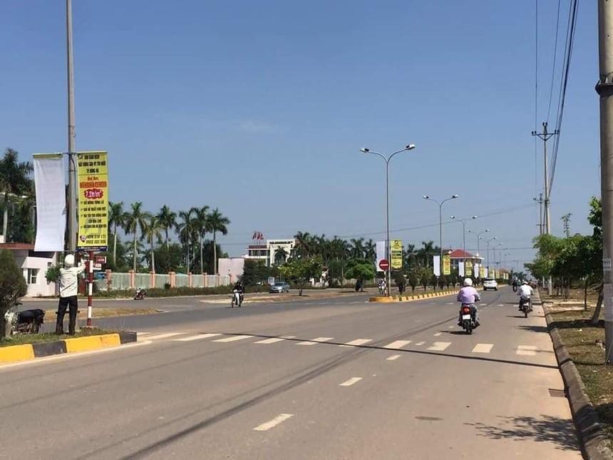 Đoạn cuối đường Hùng Vương, TP. Đông Hà, Quảng Trị
