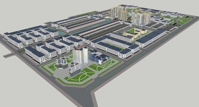 Phối cảnh Dự án Khu đô thị mới và Khu công nghệ thông tin tập trung TP. Cần Thơ.