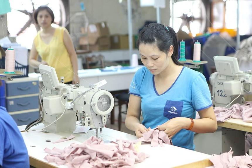 Hàng dệt may là một trong những ngành hàng tăng trưởng tốt và đạt giá trị lớn. Ảnh: Chí Cường.
