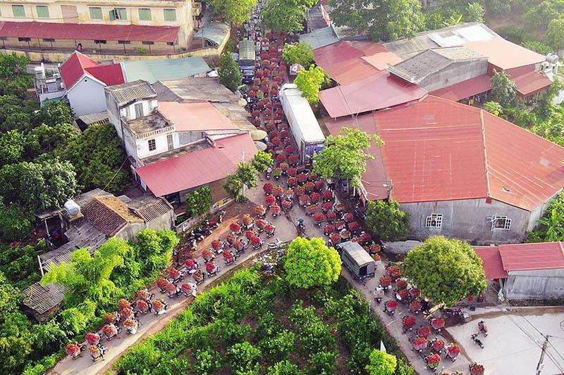 Tiêu thụ vải thiều tại Bắc Giang. Ảnh: Quân Nguyên