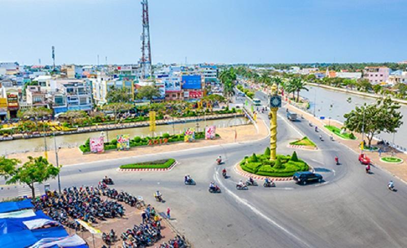 Một góc thành phố Vị Thanh, tỉnh Hậu Giang. Ảnh: Báo Hậu Giang