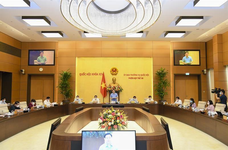 Một phiên họp của Uỷ ban Thường vụ Quốc hội - (Ảnh Quochoi.vn)