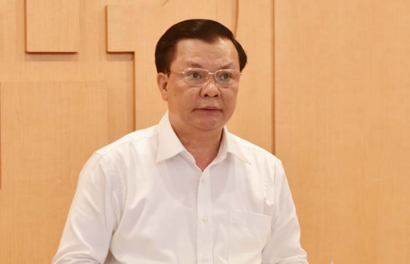 Bí thư Thành ủy Hà Nội Đinh Tiến Dũng. (Ảnh Lê Trung Nguyên)