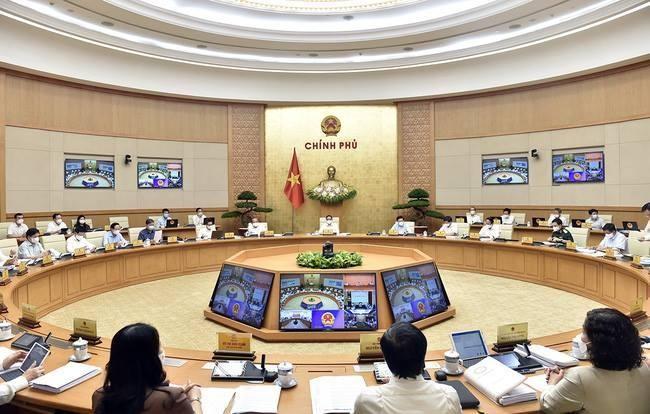 Một phiên họp của Chính phủ đương nhiệm.