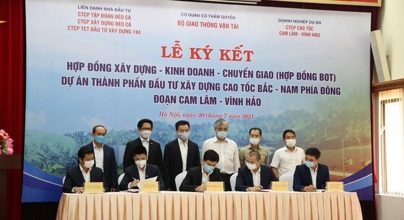 Lễ ký hợp đồng Dự án PPP cao tốc Cam Lâm - Vĩnh Hảo.