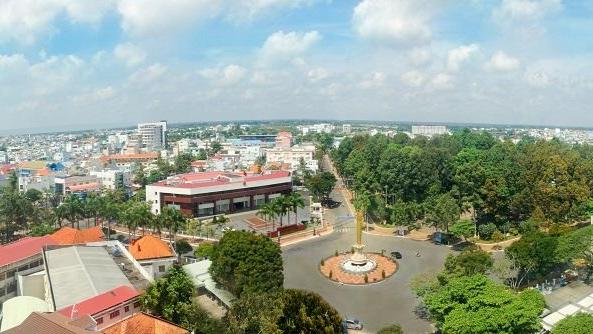 Một góc thành phố Long Xuyên, tỉnh An Giang. Ảnh: Hữu Trực