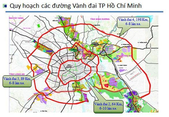Tuyến Vành đai 3 Tp.HCM sẽ giải quyết các điểm nghẽn giao thông từ Tp.HCM đi Long An, Bình Dương, Đồng Nai.