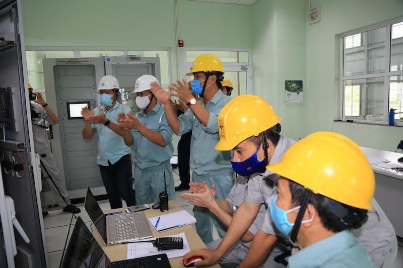 Giây phút hoà lưới thành công toàn bộ 80 MW
