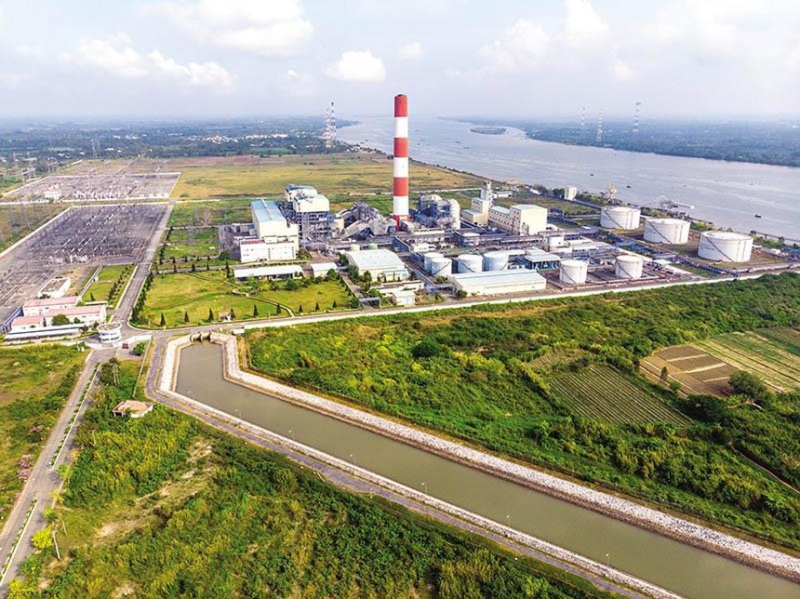 Nhà máy Nhiệt điện Ô Môn I trong Trung tâm Điện lực Ô Môn - nơi sẽ có Nhà máy Nhiệt điện Ô Môn II, III và IV được xây dựng.
