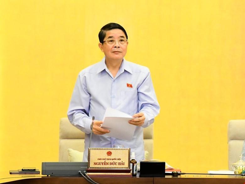 Phó chủ tịch Quốc hội Nguyễn Đức Hải điều hành phiên thảo luận.