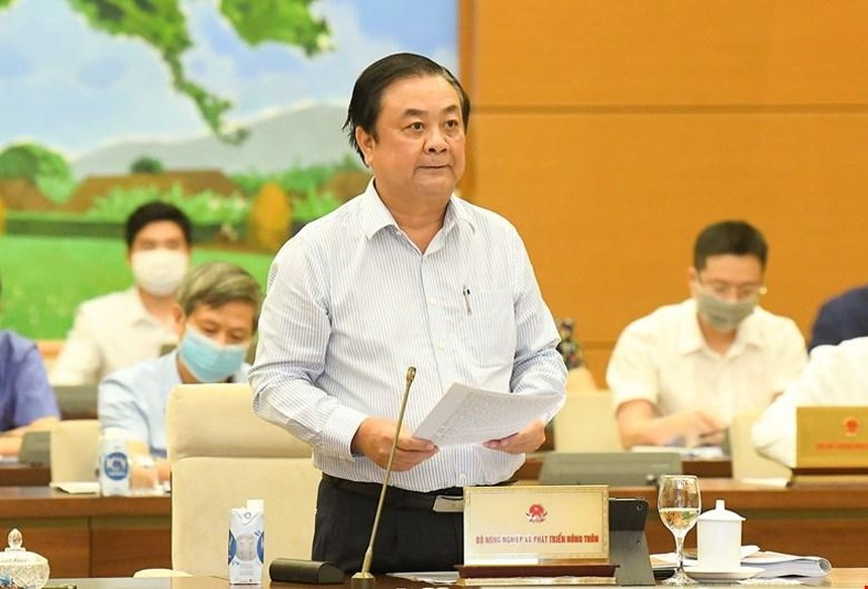 Bộ trưởng Bộ Nông nghiệp và phát triển nông thôn Lê Minh Hoan trình Đề án.