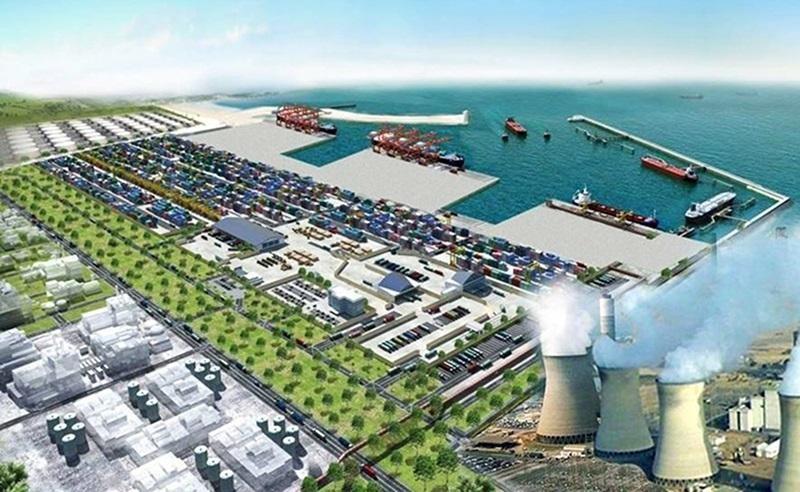 Phối cảnh một góc Khu kinh tế Đông Nam Quảng Trị, nơi dự kiến sẽ hình thành Trung tâm điện khí LNG Hải Lăng