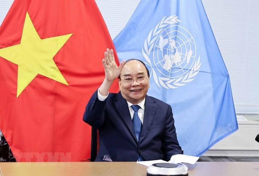 Chủ tịch nước Nguyễn Xuân Phúc tham dự các hoạt động tại kỳ họp Đại hội đồng Liên hợp quốc (Ảnh: TTXVN)