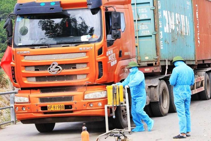 Một chốt kiểm dịch trên Quốc lộ 14 trên địa bàn tỉnh Đắk Lắk