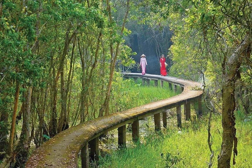 Khu du lịch sinh thái Làng nổi Tân Lập - một trong những điểm du lịch khám phá, trải nghiệm độc đáo ở Long An