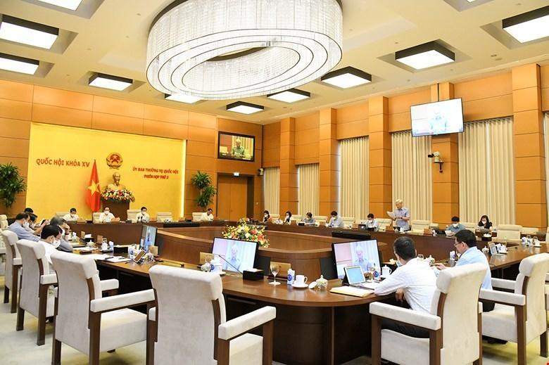 Một phiên họp của Uỷ ban Thường vụ Quốc hội.