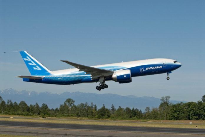 Một tàu bay Boeing 777 F mà IPP Air Cargo dự kiến mua để vận chuyển hàng hóa.