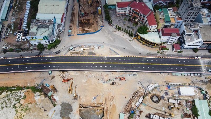 Dự án cụm nút giao thông phía tây cầu Trần Thị Lý đang tăng tốc hoàn thành cuối năm 2021