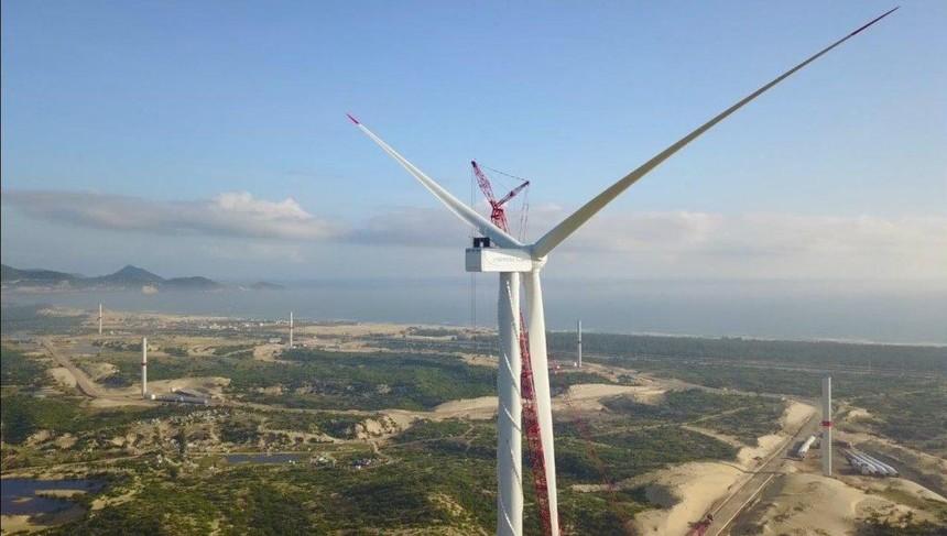 Nhà máy điện gió Phương Mai 1 có tổng công suất 26,4 MW được xây dựng trên diện tích 141 ha tại Bình Định