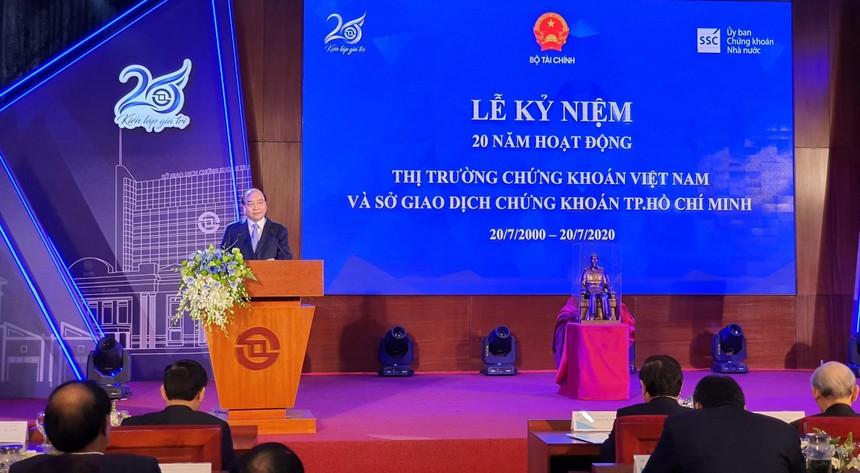 Thủ tướng Chính phủ Nguyễn Xuân Phúc phát biểu chỉ đạo tại buổi lễ