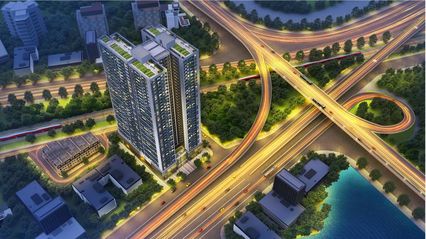 Phối cảnh dự án Hoàng Huy Commerce.