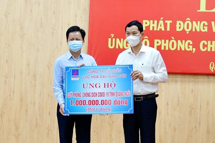 BSR ủng hộ Quỹ phòng, chống dịch Covid-19 tỉnh Quảng Ngãi