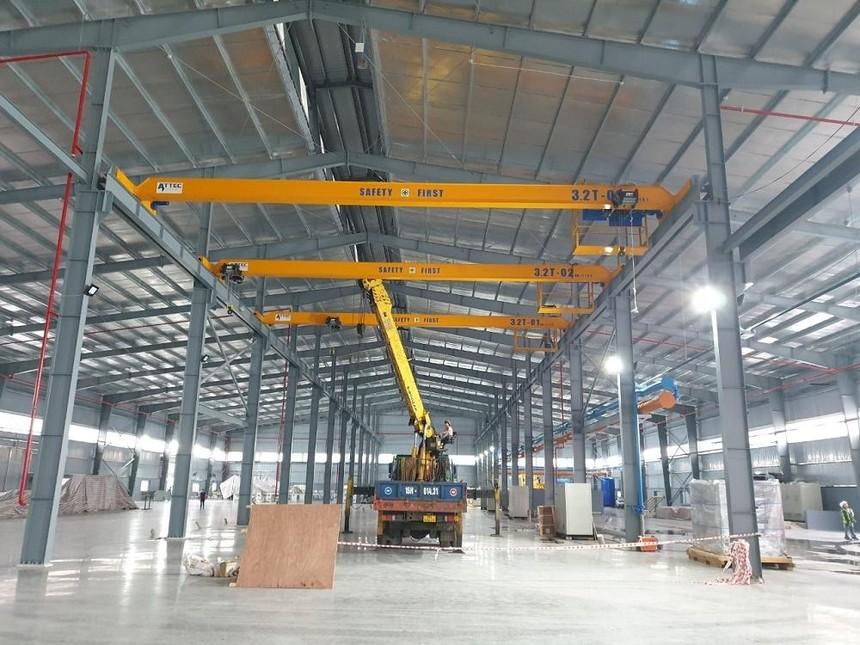 Lắp đặt máy móc tại nhà máy SPC Hải Phòng