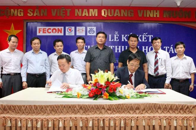 Bộ trưởng Bộ Giao thông Vận tải Đinh La Thăng dự Lễ ký kết hợp tác giữa FECON với TEDI và UTT