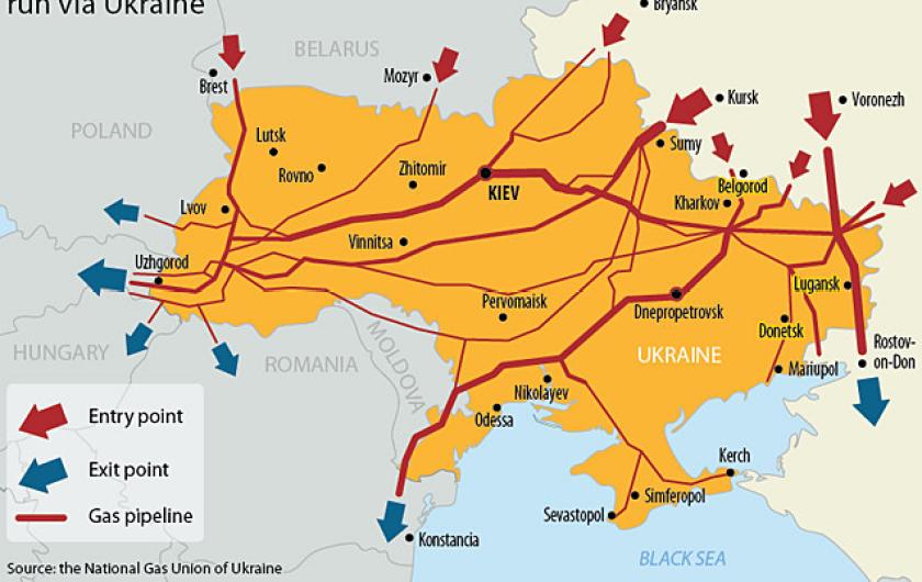 Mạng lưới đường ống khí ở Ukraine