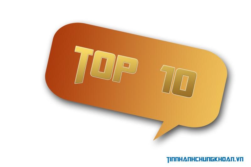 """Top 10 cổ phiếu tăng/giảm mạnh nhất tuần: Ấn tượng """"tân binh"""""""